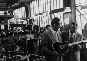 Ted McCarty at Gibson Factory