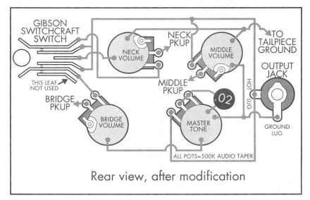 les paul 3pu mod schematic inside the les paul schematics